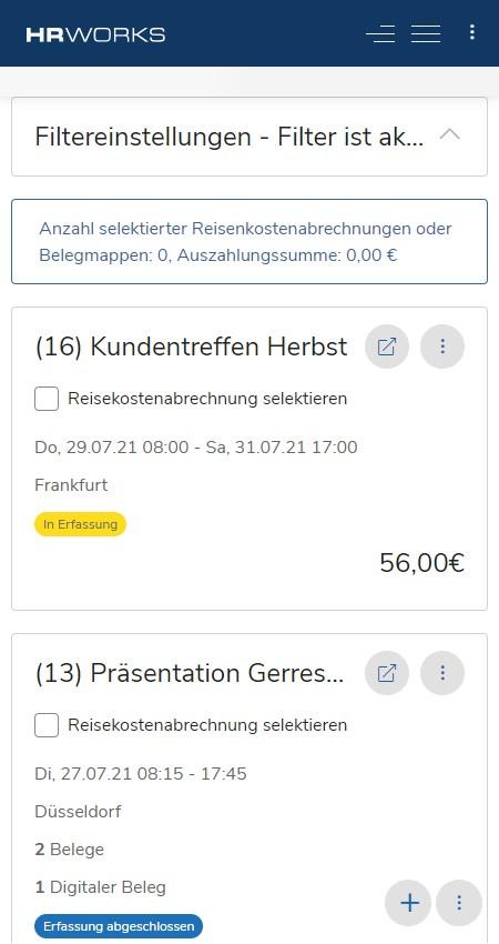 Reisekostenabrechnung auf dem Smartphone erledigen