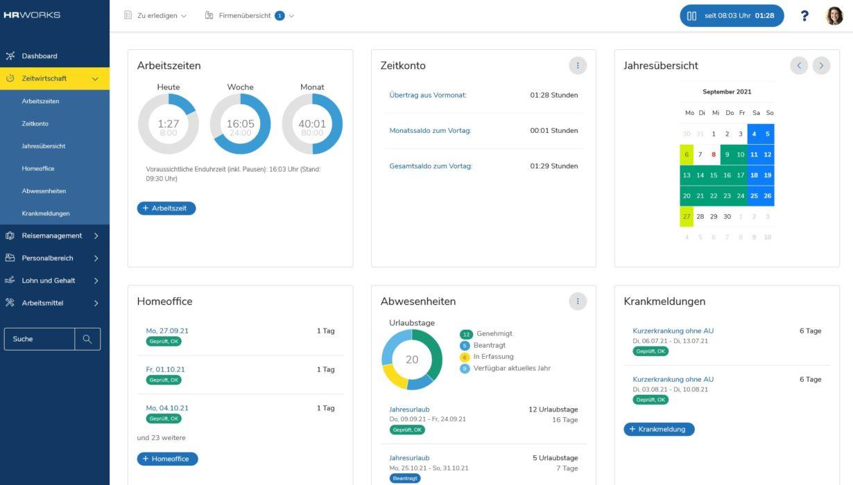 Zeitmanagement mit dem Zeitwirtschaftstool in HRworks