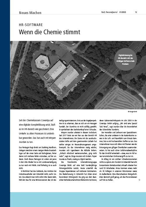 FAZ Personaljournal - Wenn die Chemie stimmt - HR Software - Presse